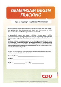 Gemeinsam gegen Fracking