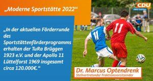 Statementtafel _Moderne Sportstätte_Brüggen und Schwalmtal